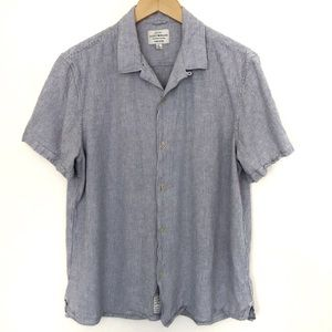 Lucky Brand Men's Linen Striped Shirt Size Large